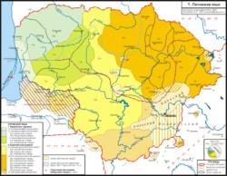 литовский язык - карта