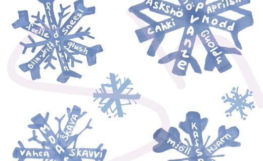 Слова, обозначающие снег, в разных языках