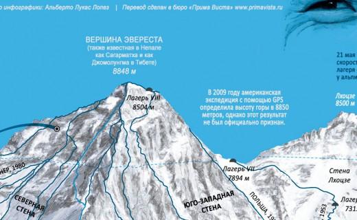 Эверест интересные факты. Инфографика.