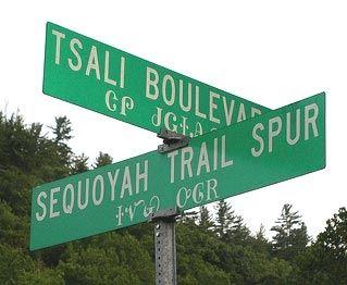 Дорожные знаки на языке чероки